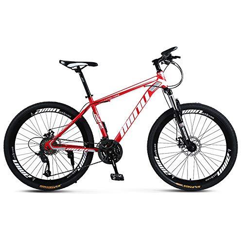 SIER Vélo de Montagne Adulte 26 Pouces 30 Vitesses Une Roue Tout-Terrain à Vitesse Variable absorbeur de Choc Hommes et Femmes vélo vélo,Red