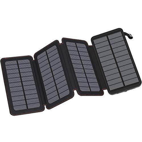 #5 Hiluckey 25000mAh con 4 Paneles Solares