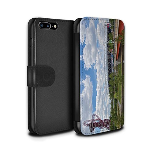 Stuff4 Coque/Etui/Housse Cuir PU Case/Cover pour Apple iPhone 7 Plus / Big Ben Design / Sites Londres Collection Parc Olympique/Orbit