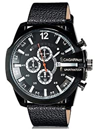 Handcuffs Cagarny 6839 Military Men Sports Wrist Watch Leather Strap Luxury Watches