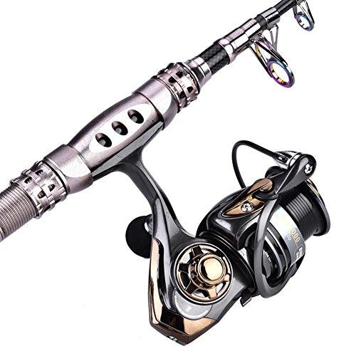 Alomejor Spinning Angelrolle Metall Hochgeschwindigkeits Seefischerspule 7.1: 1 Match Spool Spinnrolle zum schnellen Werfen von Salzwasser oder Süßwasser(HS2000)