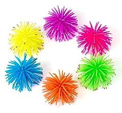 Idea Regalo - juzipi confezione da 6 acquario decorazione ornamento artificiali luminosi riccio di mare palla finta silicone coral acquario decorazione, 6 colori