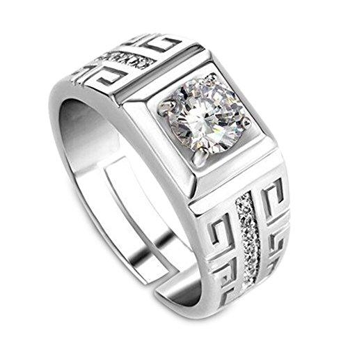 Hahat 1 Pc anello di barretta elegante diamante anello da uomo aperto di cristallo anelli gioielli da sposa per uomo ragazzi