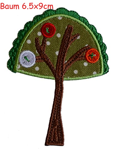 2-iron-on-patches-set-tree-65x9-and-crocodile-9x3-embroidery-fabric-appliques-by-trickyboo-design-zu