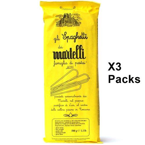 TOSKANISCHE SPAGHETTI von Martelli 3er Pack (3 x 500g) Handgemacht - Gourmet Pasta aus Toskana - Italienische Spezialitäten (Nudeln)