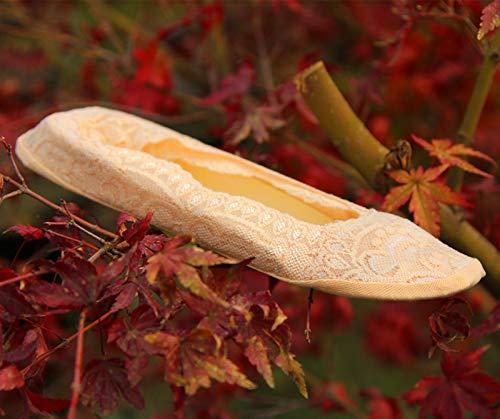 XIAOL Home Frühling und Sommer unsichtbare Boot Socken Socken flachen Mund unsichtbare Boot Socken Spitze Silikon Sohle Slip (Color : Light beige) (Socken Boot Beige)