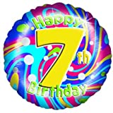 Folienballon-HAPPY 7. Geburtstag-18