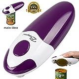 BangRui Mains libres Rapide Sécuritaire Ouvre-boîte électrique et automatique du bord lisse (Violet)