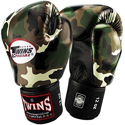 TWINS Boxhandschuhe, Leder, FBGV-JG, Camo, Gr. 14