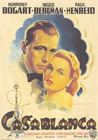 Casablanca Affiche du film Poster Movie Casablanca (27 x 40 In - 69cm x 102cm) Italian Style D