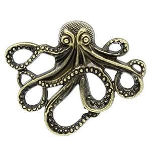 Housweety 20 Pendentifs Breloque Pieuvre Poulpe Bronze 4.3x3.5cm K02101 - Charm Bijou en Vogue pour Vous