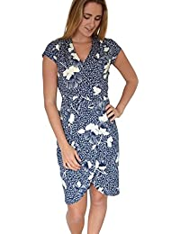 Next Blue and White Floral Wrap Dress