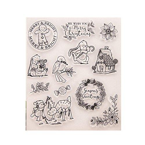 -Gummi-Stempel, perfekt klarer Stempel, Fotoprägung, Album, dekorative Karten, transparent, Silikon-Stempel, zum Basteln ()