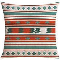 SESO UK- Geometrica stile etnico multi-pattern texture federe vita Cuscino,