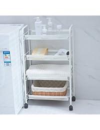 HQQ Seam mesita de almacenaje Belleza Pequeña Carretilla con Ruedas Extraíble Cocina Baño Estante Salón…
