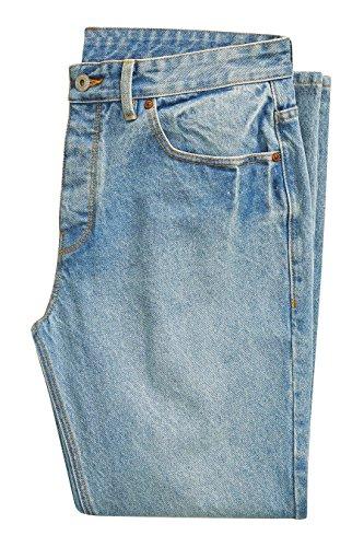 next Uomo Jeans Corti Vestibilità affusolata Bleach Wash
