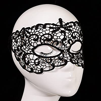 Heiße Dame Mode sexy Spitzen-Maske , black