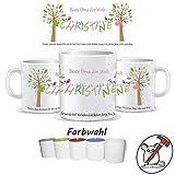 Tasse für die Beste Oma der Welt/Tasse Oma/personalisierte Tasse mit Name/Tante / Mama/Patentante / Danke/Muttertag / Geburtstag/TEXT OBEN UNTEN UND NAME PERSONALISIERBAR