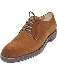 Dilize Zapatos de Cordones Para Hombre, Color Marrón, Talla 44 EU