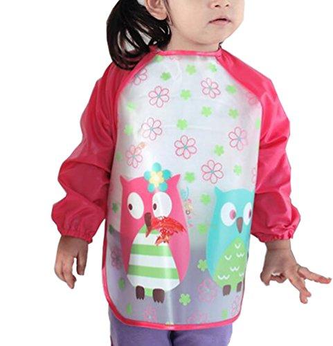 waterproof-baby-girls-apron-bibs-cartoon-animal-kids-eat-play-painting-apron-red