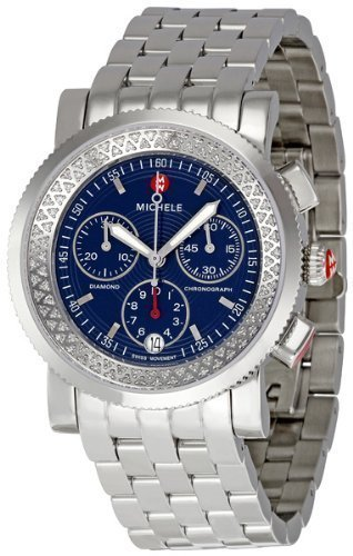 Michele Sport Sail Diamond Navy Dial Ladies Watch MWW01C000056