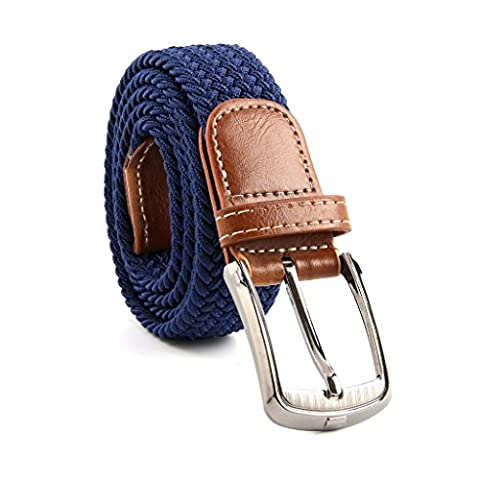 MultiWare Elasticated Woven Belt Stretch Belt For Men Navy Blue