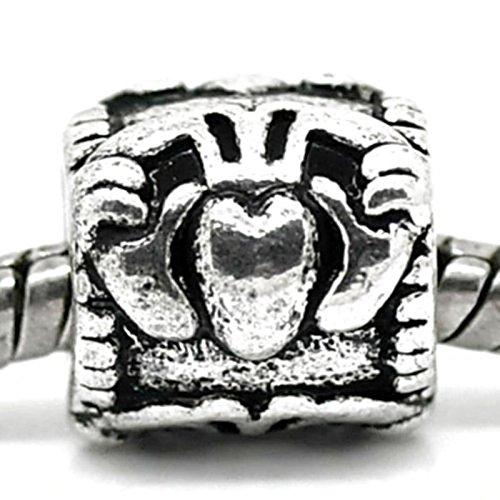 Irisch keltische Claddagh Herz Krone Charm für Silber Charm-Armbänder