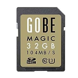 Gobe Magic 32GB SDHC 104MB/s Lesen 90MB/s Schreiben UHS-3 Class 10 SD-Speicherkarte
