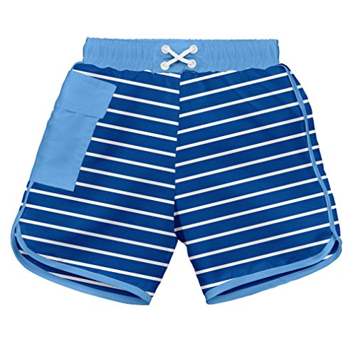 I play. 722185-646-42 - Short con pañal para nadar, azul 6mo 3-6m