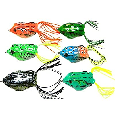 Bluester 6pcs Frog Snakeheads Bait Fishing Lures Bass Soft Bait from Bluester