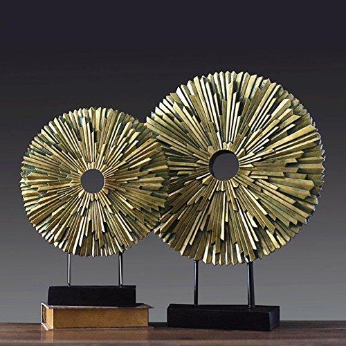 Modern Art Wohnzimmer Circular Harz Desktop-Dekorative Souvenirs ein Paar
