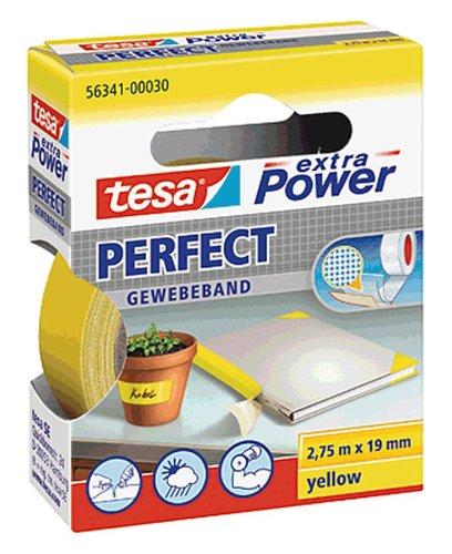Tesa Gewebeband 2.75m:19mm/56341-00030-03 2,75mx19mm gelb