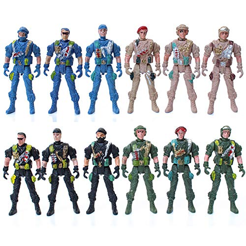 guoYL26sx Toys 9cm Mini Kids Plastic Military Soldier Model Army Men Figure Toy Home Decor - Random Style