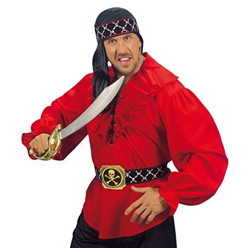 NET TOYS Piratengürtel mit Schnalle Piraten Gürtel Pirat Schärpe Piratenschärpe Kostüm Zubehör Seeräuber Freibeuter (Pirat Gürtel Schnalle)