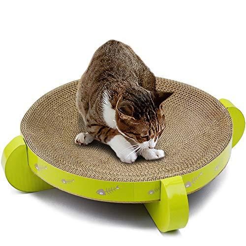 ETH Wellpappe Katzenkratzbrett Runde Nut Katzennest Haus Bett Sofa Haustier Pfote Pflege Spielzeug Kätzchen Scratcher Mehrere Kratzwinkel Geschmack -