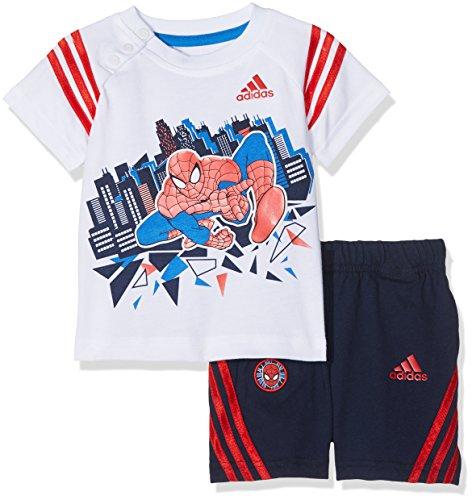 adidas garçon Spider-man Entraînement kleinkinder Combinaisons 62 Blanc/bleu/rouge