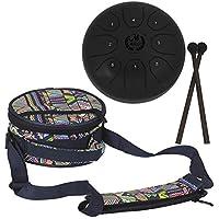 Cokeymove - Tambor de acero para lengua de 14 cm con bolsa para camping, meditación, terapia de música, negro