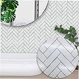 Aliexpress vend nordique moderne minimaliste blanc chevrons style carreaux autocollants chambre cuisine salon étude stickers muraux (couleur: bleu) (taille: 10 cm)