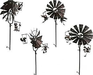 Gartendeko windm hle aus metall metalldekoration gartendekoration garten - Gartendekoration metall ...