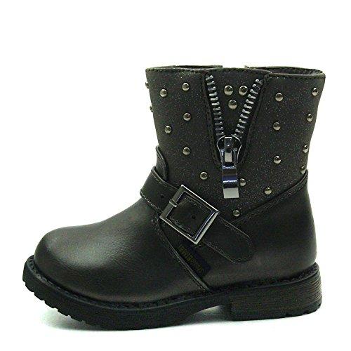 SB173 Studio BIMBI Baby Boots w/zip Mid Calf for Girls >      > Bébé Bottes w / zip Mi-mollet pour les filles Taupe (marron)