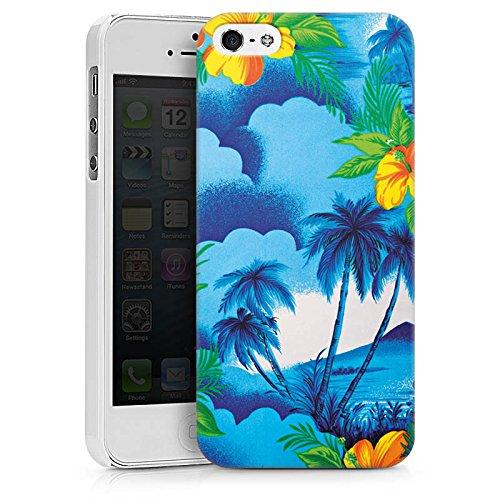 Apple iPhone X Silikon Hülle Case Schutzhülle Urlaub Palmen Hawaii Hard Case weiß