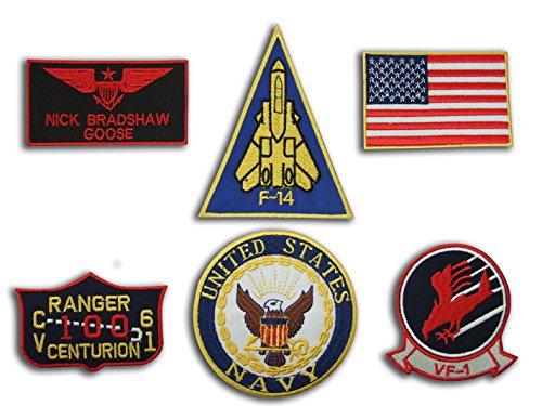 top-gun-goose-nick-bradshaw-us-navy-name-tag-flight-jacket-iron-on-6-patch-set