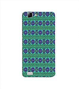 Print Masti Designer Back Case Cover for Vivo Y27 :: VivoY27L (Alternative Antique Square Colourful)