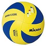 Mikasa Unisex - Kinder Volleyball MVA 123 SL, blau - gelb, 65 – 67 cm