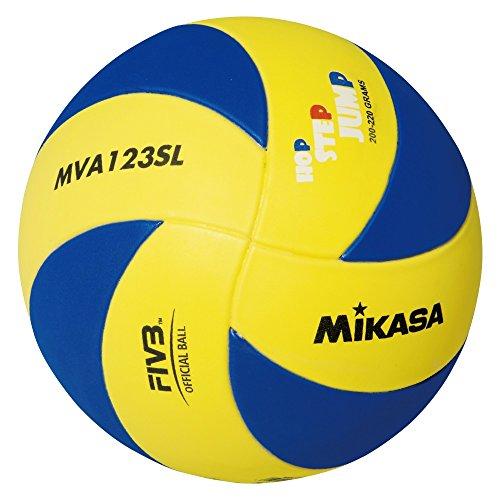 Mikasa Unisex - Kinder Volleyball MVA 123 SL, blau - gelb, 65 - 67 cm