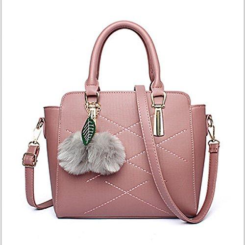 DFUCF Signore Ufficio Borsa A Tracolla Occupazione Borsa Messaggero Borsa Moda Casual Robusto Dark Pink