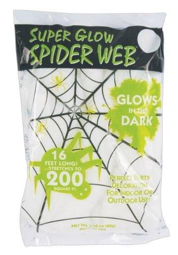 Spinnennetz SUPERGLOW SPIDER WEB leuchtet im Dunkeln