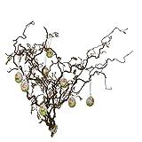 Zweig-Bündel mit Ostereiern: Osterdekoration - natürliche Äste mit Ostereiern - Deko-Holz-Äste - für Oster-Vase (5 Zweige ca.40 cm; 4 echte Eier)