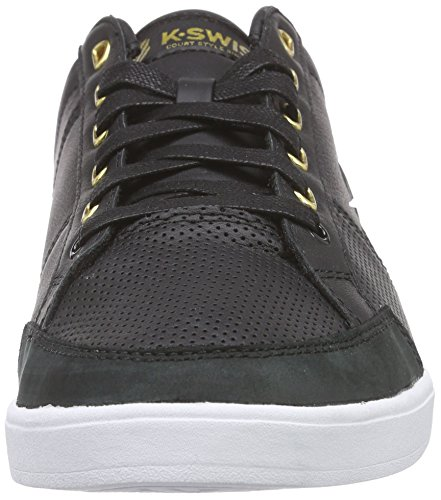 K-Swiss Herren Match Court P Low-Top Schwarz (Black/White 002)