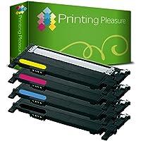 Printing Pleasure CLP360 Kit 4 Toner Compatibili per Samsung CLP-360/CLP-365/CLX-3300/CLX-3305, Nero/Ciano/Magenta/Giallo - 360 Pezzi Set
